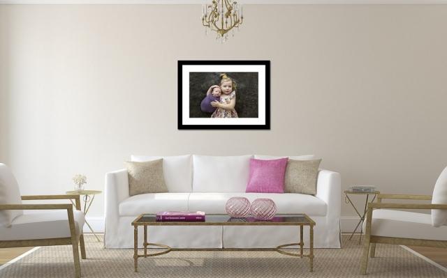 Newborn Photography Canvas Print Wall Display by Howe Studios, Wallacia, Sydney