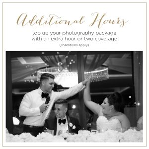 Additional Wedding Photography Hours - Howe Studios, Sydney